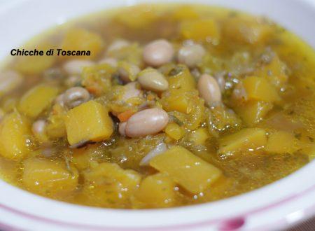 """Sbroscia, zuppa di fagioli e zucca """"ricetta Toscana"""""""