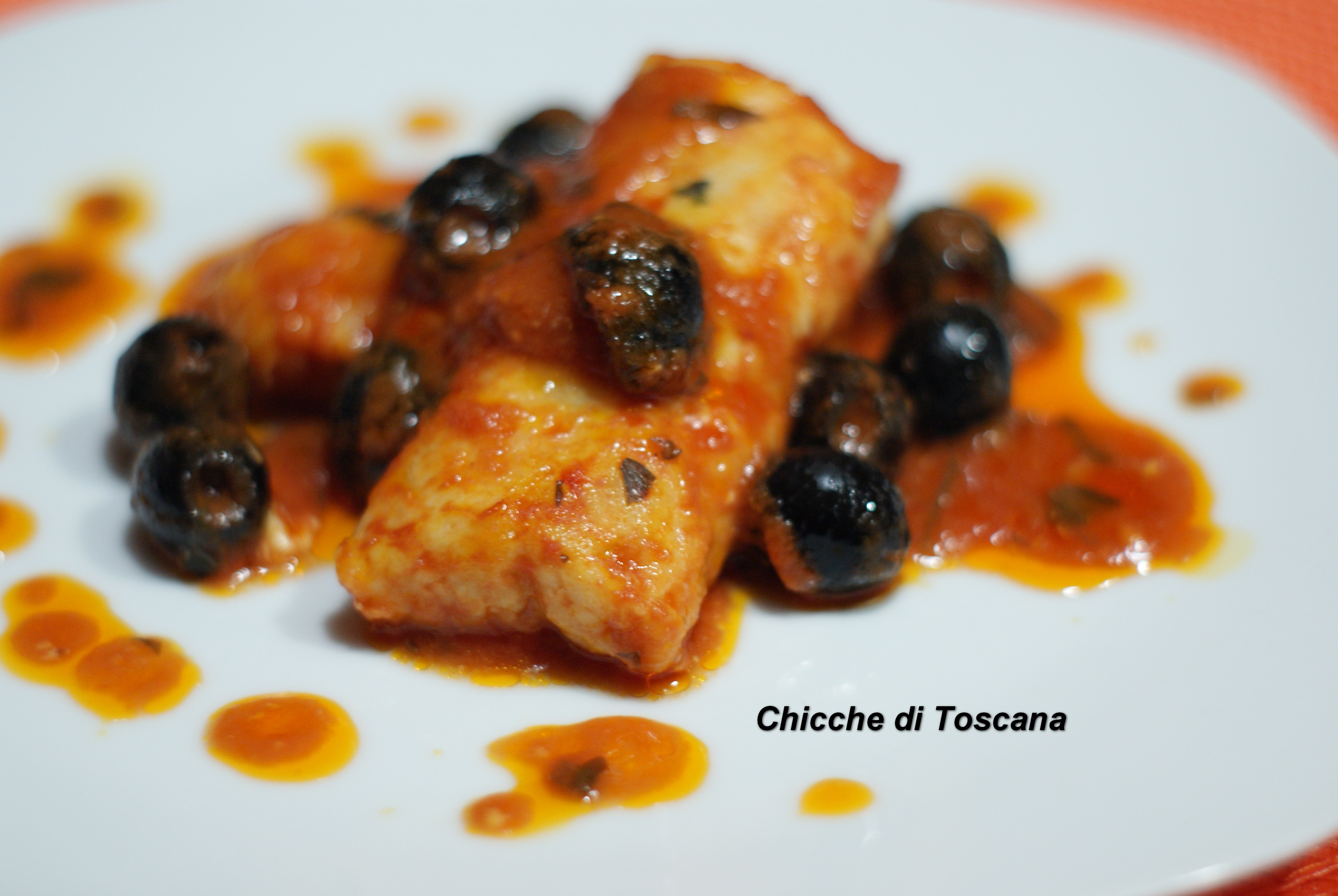 Cuori di nasello in umido con olive ricetta toscana for Cucinare nasello
