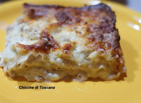 Lasagne formaggi e noci