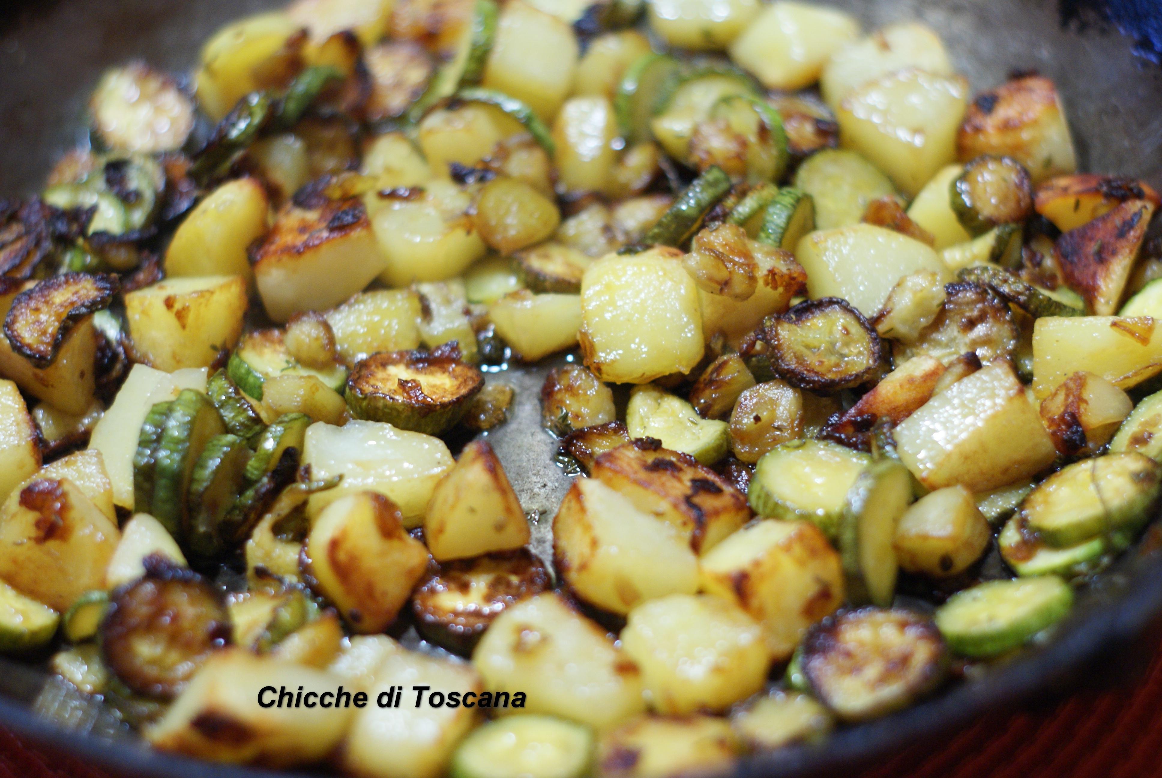 Verdure miste in padella chicche di toscana for Cucinare zucchine in padella