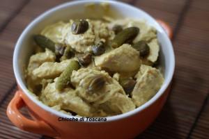 Straccetti di pollo in salsa tonnata con curcuma