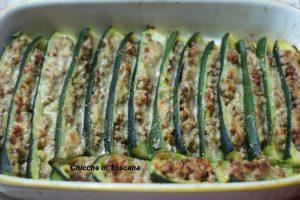 Barchette di zucchine ripiene di carne