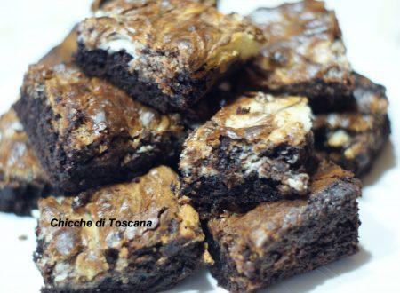 Brownie marmorizzati con spuma di formaggio