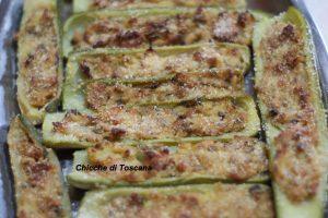 Barchette di zucchine ripiene di tonno