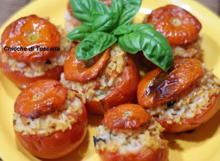 Pomodori ripieni di riso gratinati