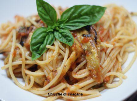 Spaghetti con le melanzane
