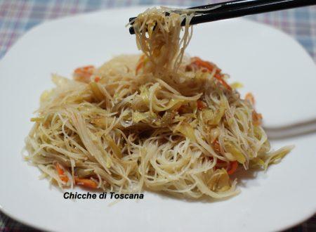 Spaghetti / vermicelli di riso con verdure