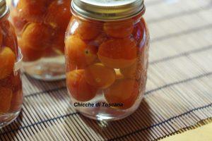 Pomodorini conservati in acqua e sale