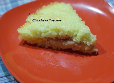 Torta di riso salata con prosciutto cotto e formaggio