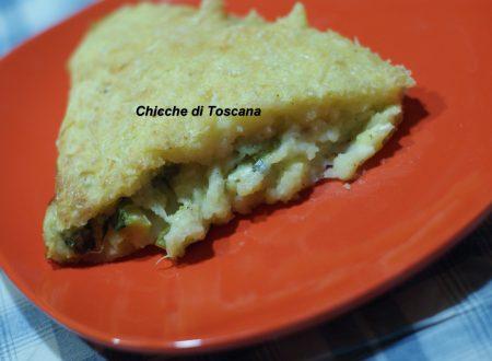 Tortino di patate con zucchine e formaggio