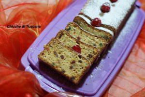 Plumcake leggero con canditi e uvetta