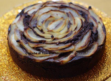 Torta al cioccolato e pere soffice e golosa
