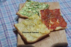 Pizza croccante tricolore