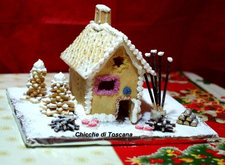La dolce casetta di Natale  in pasta frolla