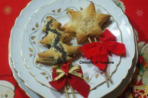 Antipasto segnaposto Natale di pasta sfoglia
