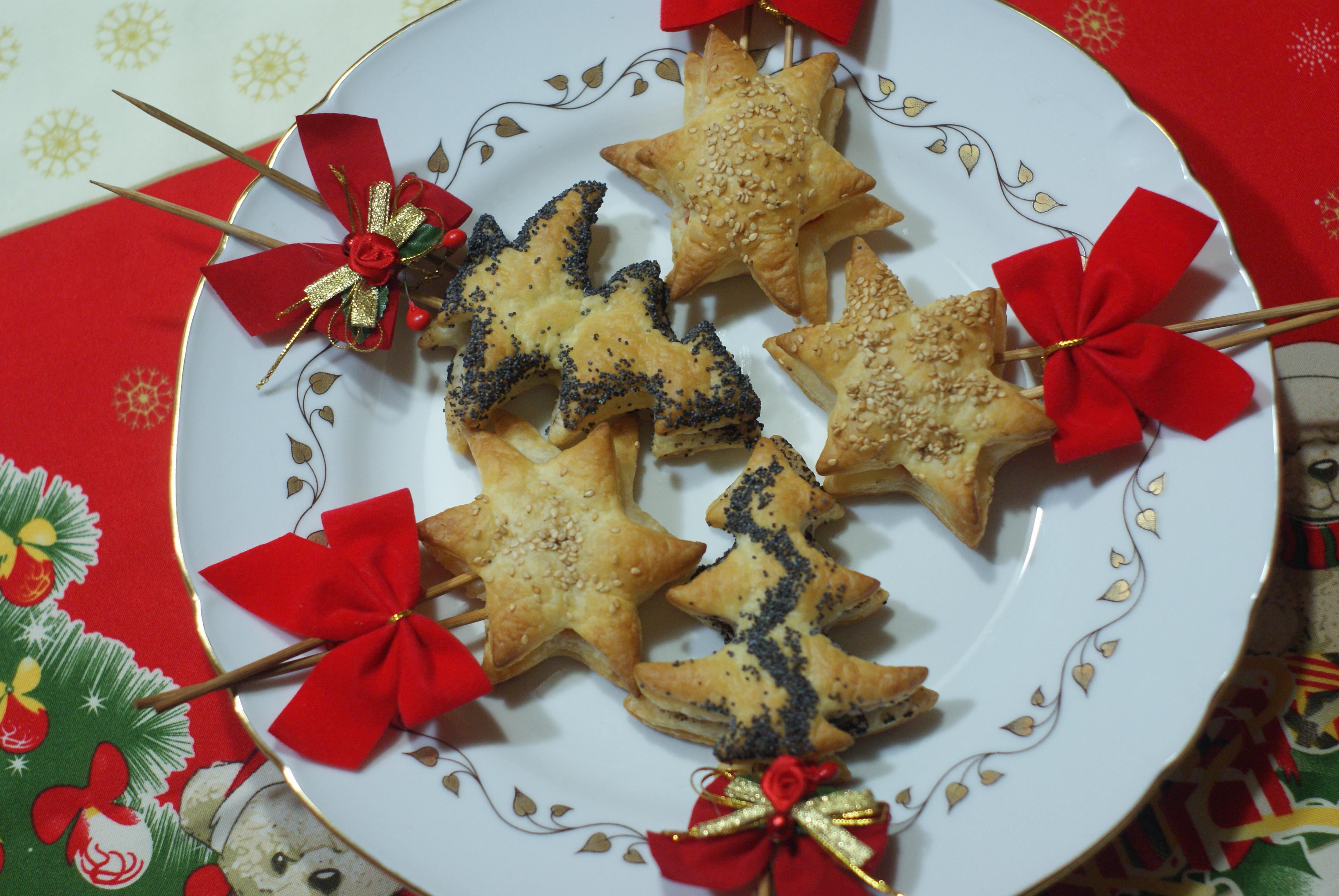 Antipasti Di Natale Fatti Ad Albero.Antipasto Segnaposto Natale Di Pasta Sfoglia