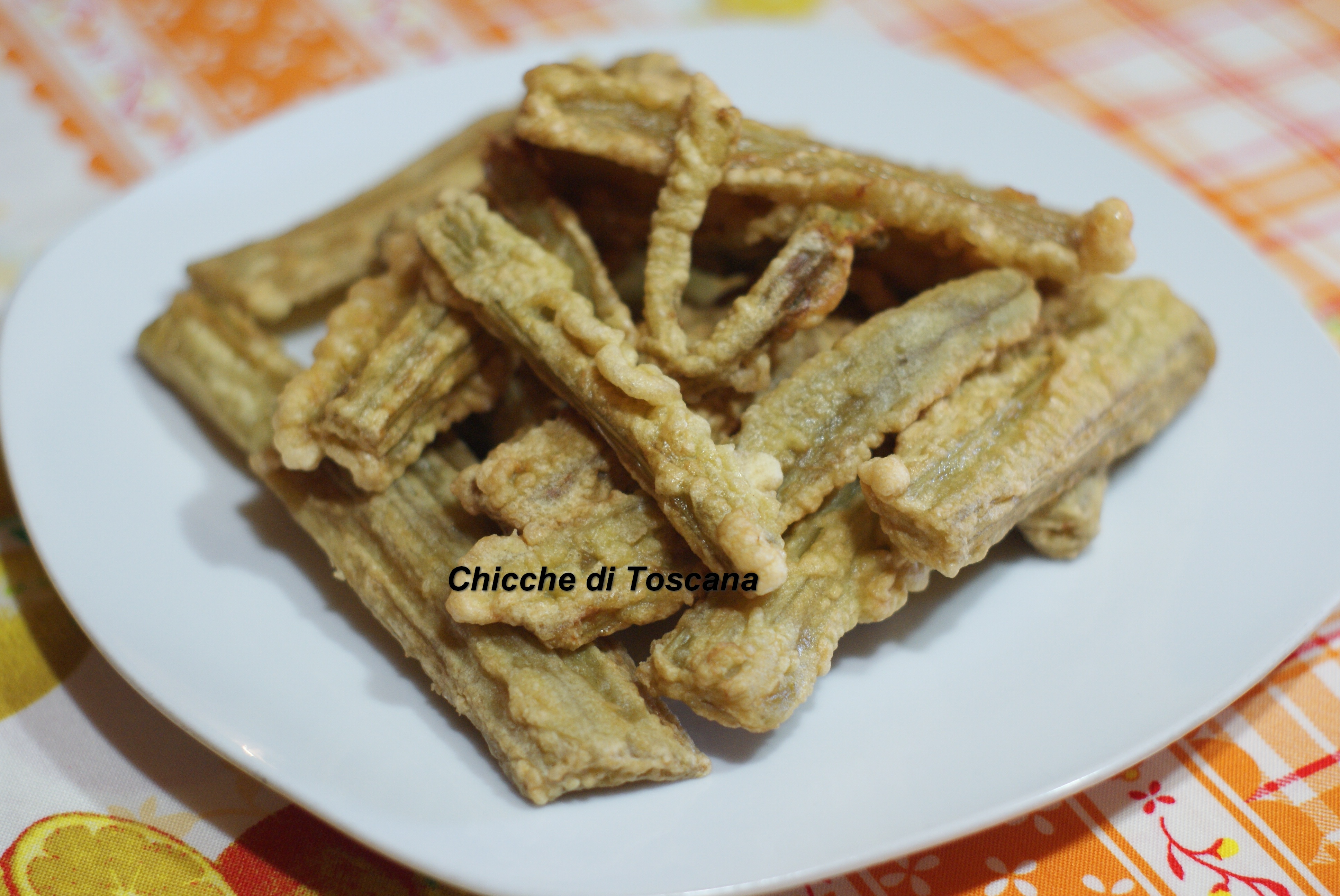Cardi fritti alla toscana chicche di toscana - Cucinare i cardi ...