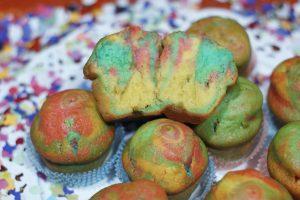 Muffin vestiti di Arlecchino
