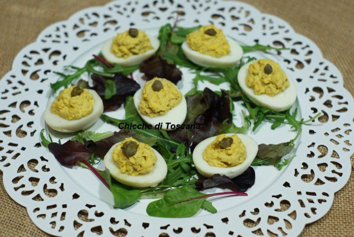 Uova sode ripiene speciale pasqua chicche di toscana for Cucinare uova sode