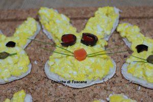 """Tartine coniglietto """"speciale Pasqua"""""""