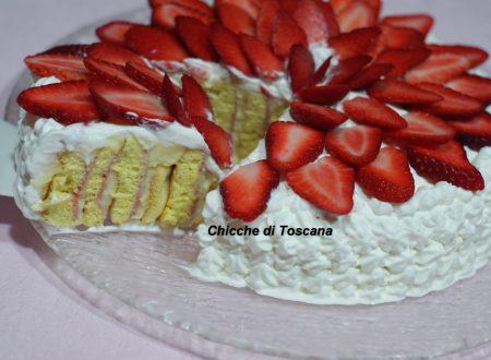 Torta girellona alle fragole