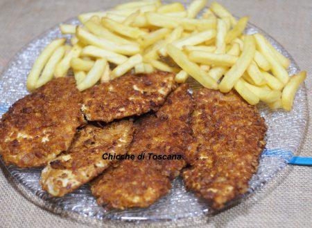 Cotolette di pollo croccanti con senape e paprika