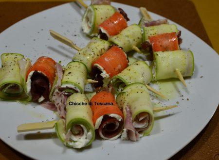Spiedini di zucchine e carote
