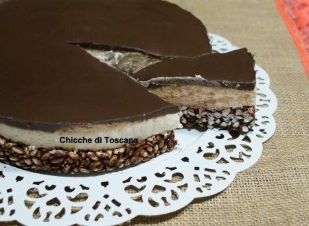 Ceesecake al cioccolato con riso soffiato